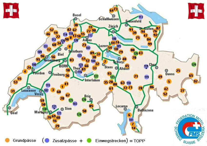 Alpenpässe Karte.Fms Pässewettbewerb 2019 Föderation Der Motorradfahrer Der Schweiz