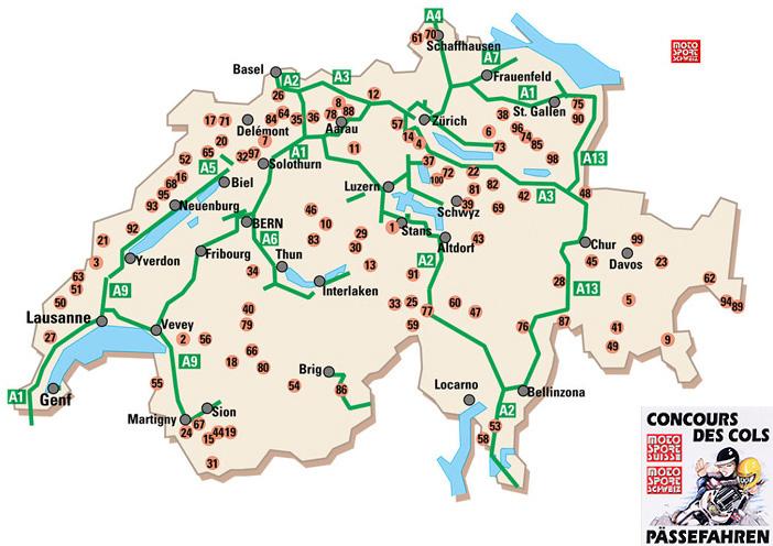 Alpenpässe Karte.Motorrad Pässe Challenge Schweiz Motorrad Pässe Schweiz Alpenpässe